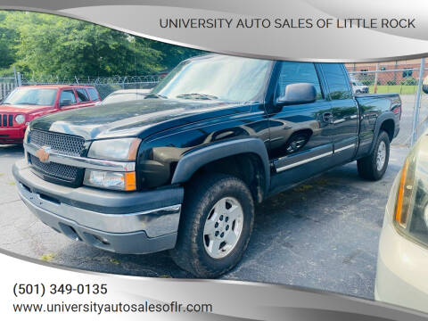 2005 Chevrolet Silverado 1500 for sale at University Auto Sales of Little Rock in Little Rock AR