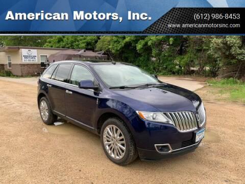 2011 Lincoln MKX for sale at American Motors, Inc. in Farmington MN