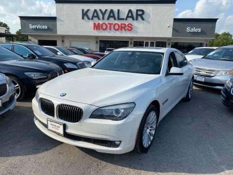2012 BMW 7 Series for sale at KAYALAR MOTORS in Houston TX