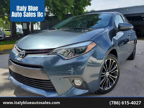 2016 Toyota Corolla for sale at Italy Blue Auto Sales llc in Miami FL