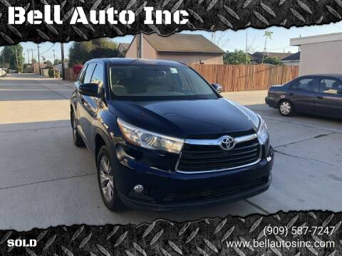 2015 Toyota Highlander for sale at Bell Auto Inc in Long Beach CA