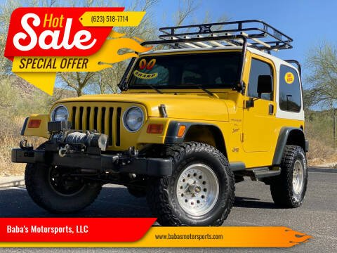 2000 Jeep Wrangler for sale at Baba's Motorsports, LLC in Phoenix AZ
