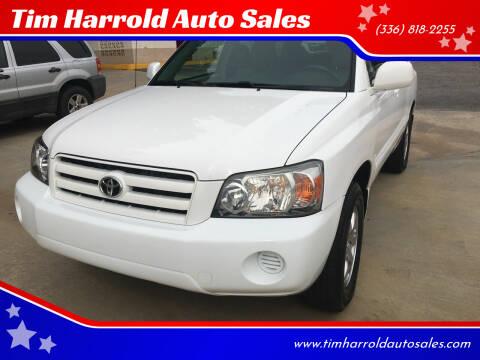 2006 Toyota Highlander for sale at Tim Harrold Auto Sales in Wilkesboro NC