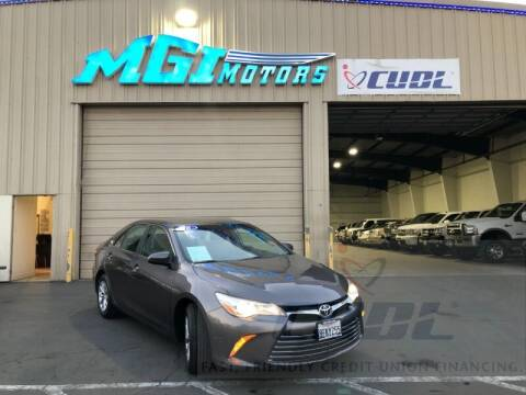 2016 Toyota Camry for sale at MGI Motors in Sacramento CA