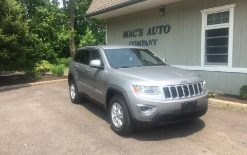 2014 Jeep Grand Cherokee for sale at MAC'S AUTO COMPANY in Nanticoke PA
