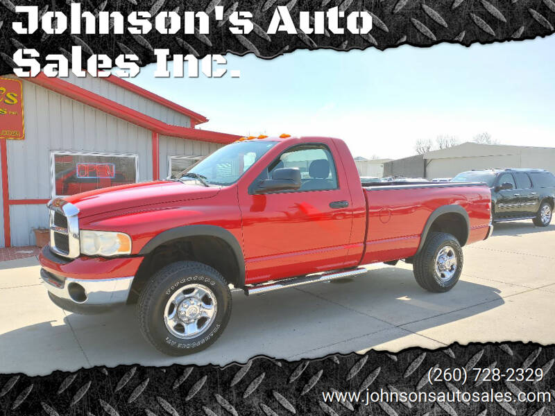2005 Dodge Ram Pickup 2500 for sale at Johnson's Auto Sales Inc. in Decatur IN