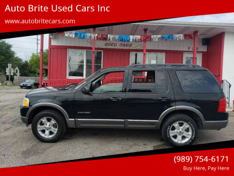2004 Ford Explorer for sale at Auto Brite Used Cars Inc in Saginaw MI