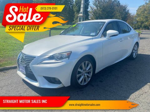 2014 Lexus IS 250 for sale at STRAIGHT MOTOR SALES INC in Paterson NJ