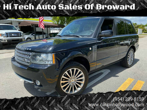 2011 Land Rover Range Rover for sale at Hi Tech Auto Sales Of Broward in Hollywood FL