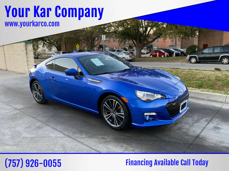 2015 Subaru BRZ for sale at Your Kar Company in Norfolk VA