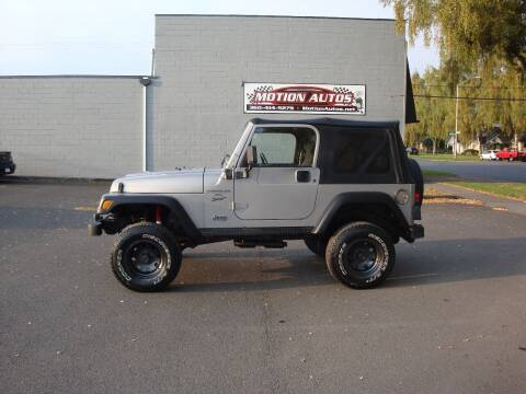 2000 Jeep Wrangler for sale at Motion Autos in Longview WA