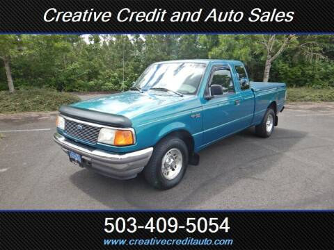 1997 Ford Ranger for sale at Creative Credit & Auto Sales in Salem OR