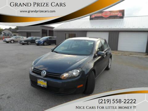 2012 Volkswagen Golf for sale at Grand Prize Cars in Cedar Lake IN