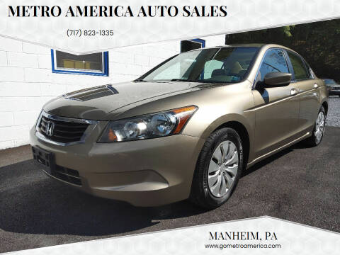 2008 Honda Accord for sale at METRO AMERICA AUTO SALES of Manheim in Manheim PA