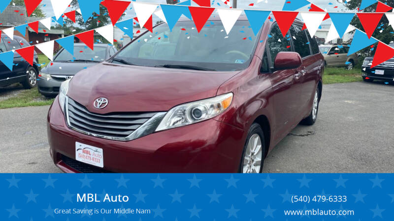 2013 Toyota Sienna for sale at MBL Auto Woodford in Woodford VA