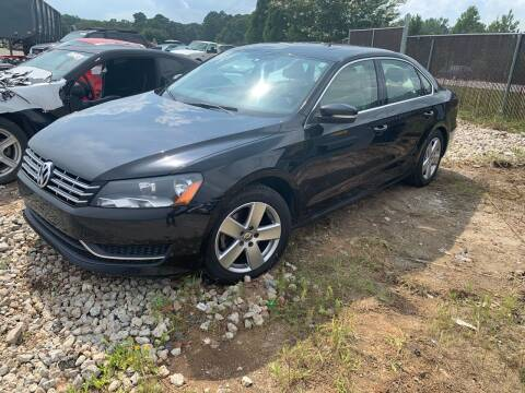 2013 Volkswagen Passat for sale at Encore Auto Parts & Recycling in Jefferson GA