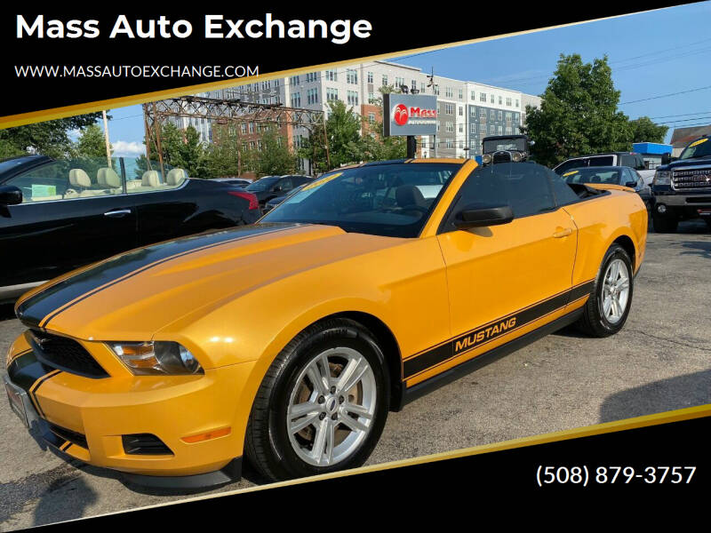 2012 Ford Mustang for sale at Mass Auto Exchange in Framingham MA