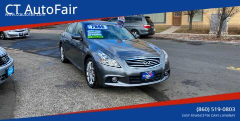 2010 Infiniti G37 Sedan for sale at CT AutoFair in West Hartford CT
