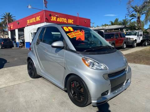 2009 Smart fortwo for sale at 3K Auto in Escondido CA