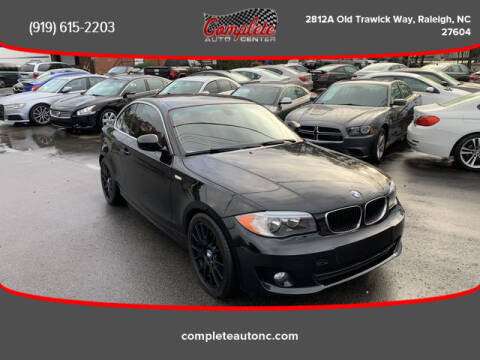 2012 BMW 1 Series for sale at Complete Auto Center , Inc in Raleigh NC