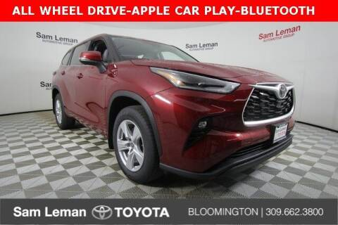 2021 Toyota Highlander for sale at Sam Leman Toyota Bloomington in Bloomington IL