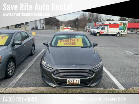 2013 Ford Fusion for sale at Save Rite Auto Rental in Randallstown MD