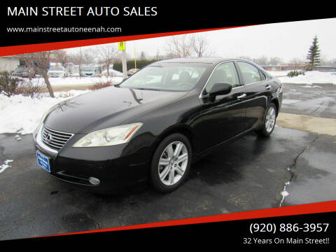 2007 Lexus ES 350 for sale at MAIN STREET AUTO SALES in Neenah WI