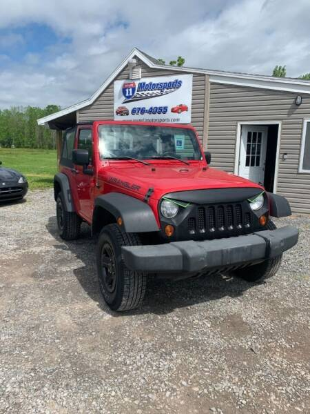 2009 Jeep Wrangler for sale at ROUTE 11 MOTOR SPORTS in Central Square NY