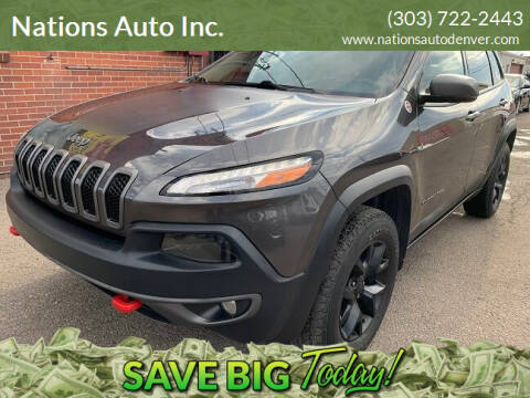 2017 Jeep Cherokee for sale at Nations Auto Inc. in Denver CO