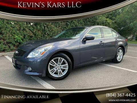2012 Infiniti G37 Sedan for sale at Kevin's Kars LLC in Richmond VA