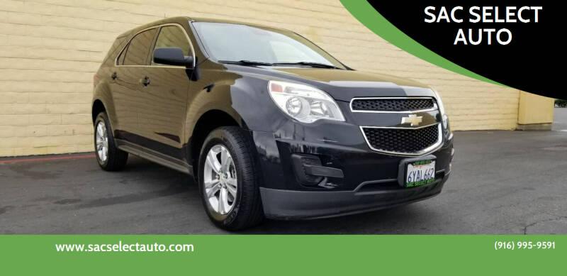 2013 Chevrolet Equinox for sale at SAC SELECT AUTO in Sacramento CA