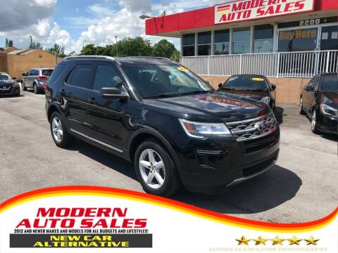 2018 Ford Explorer for sale at Modern Auto Sales in Hollywood FL