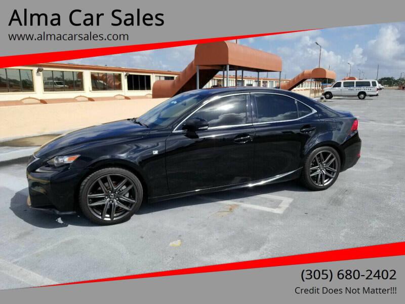 2015 Lexus IS 250 for sale at Alma Car Sales in Miami FL