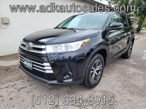 2019 Toyota Highlander for sale at ADK AUTO SALES LLC in Austin TX