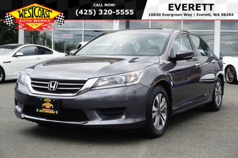 2015 Honda Accord for sale at West Coast Auto Works in Edmonds WA