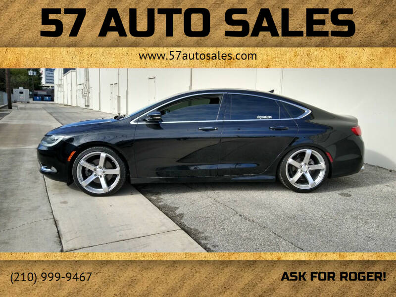 2015 Chrysler 200 for sale at 57 Auto Sales in San Antonio TX