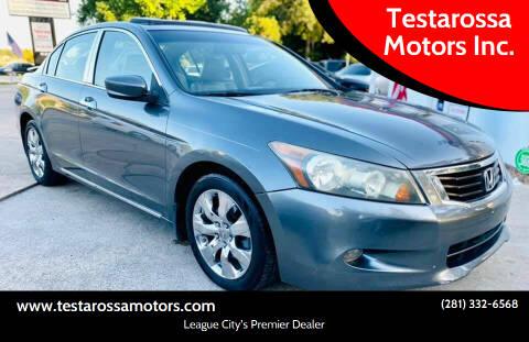 2008 Honda Accord for sale at Testarossa Motors Inc. in League City TX