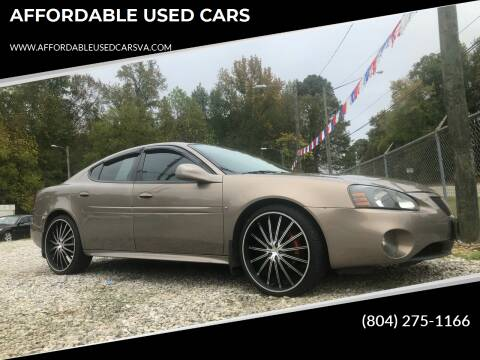 2006 Pontiac Grand Prix for sale at AFFORDABLE USED CARS in Richmond VA