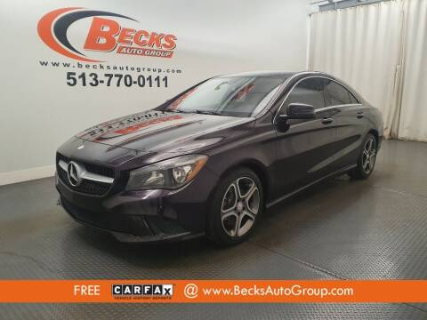 2014 Mercedes-Benz CLA for sale at Becks Auto Group in Mason OH
