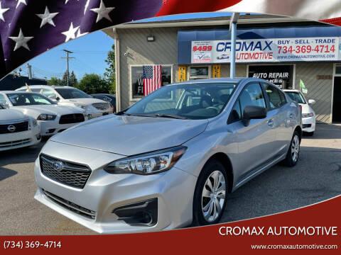 2019 Subaru Impreza for sale at Cromax Automotive in Ann Arbor MI