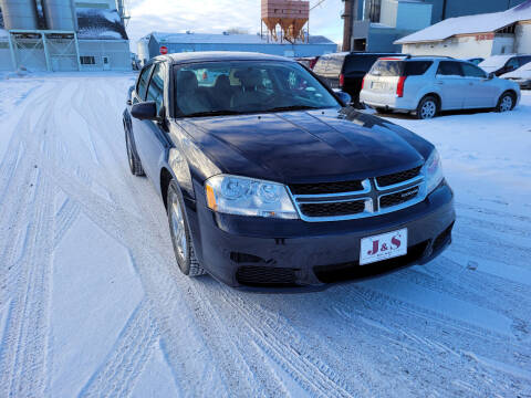2011 Dodge Avenger for sale at J & S Auto Sales in Thompson ND
