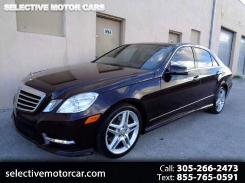 2013 Mercedes-Benz E-Class for sale at Selective Motor Cars in Miami FL