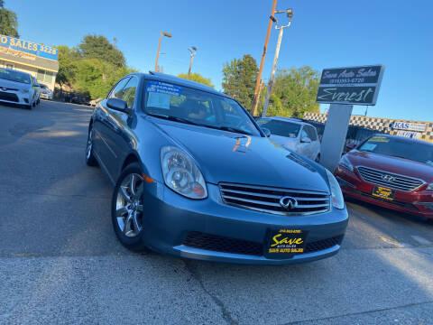 2005 Infiniti G35 for sale at Save Auto Sales in Sacramento CA