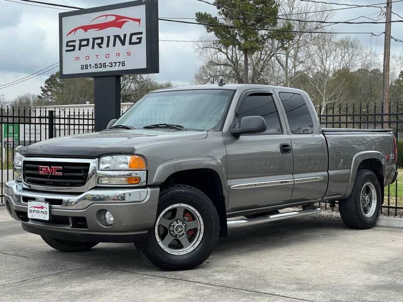 2006 GMC Sierra 1500 for sale at Spring Motors in Spring TX