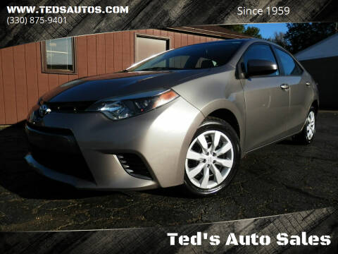 2016 Toyota Corolla for sale at Ted's Auto Sales in Louisville OH
