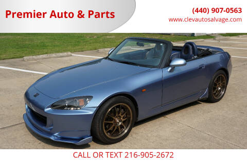 2002 Honda S2000 for sale at Premier Auto & Parts in Elyria OH