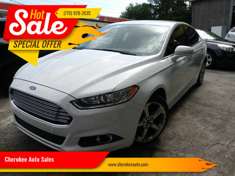 2014 Ford Fusion for sale at Cherokee Auto Sales in Acworth GA