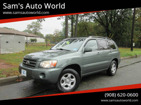 2004 Toyota Highlander for sale at Sam's Auto World in Roselle NJ