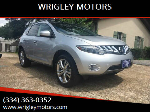 2010 Nissan Murano for sale at WRIGLEY MOTORS in Opelika AL