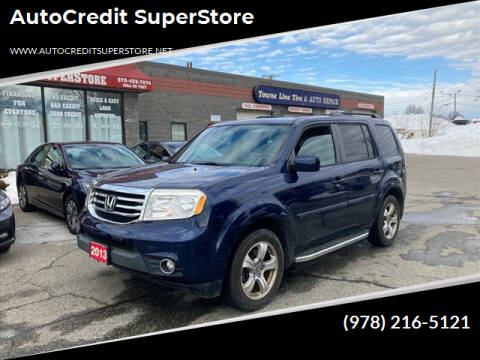 2013 Honda Pilot for sale at AutoCredit SuperStore in Lowell MA